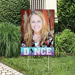 Must Dance to the Beat - Dance - Photo Yard Sign - Birthday Party or Dance Party Decorations