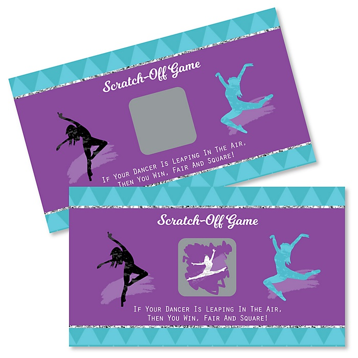 Must Dance to the Beat - Dance - Birthday Party or Dance Party Scratch Off Cards - 22 Cards