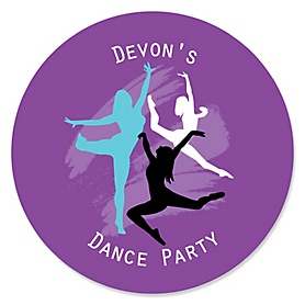 Must Dance to the Beat - Dance - Personalized Birthday Party or Dance Party Sticker Labels - 24 ct