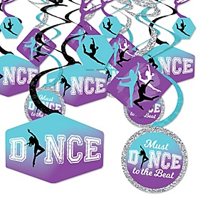 Must Dance to the Beat - Dance - Birthday Party or Dance Party Hanging Decor - Party Decoration Swirls - Set of 40