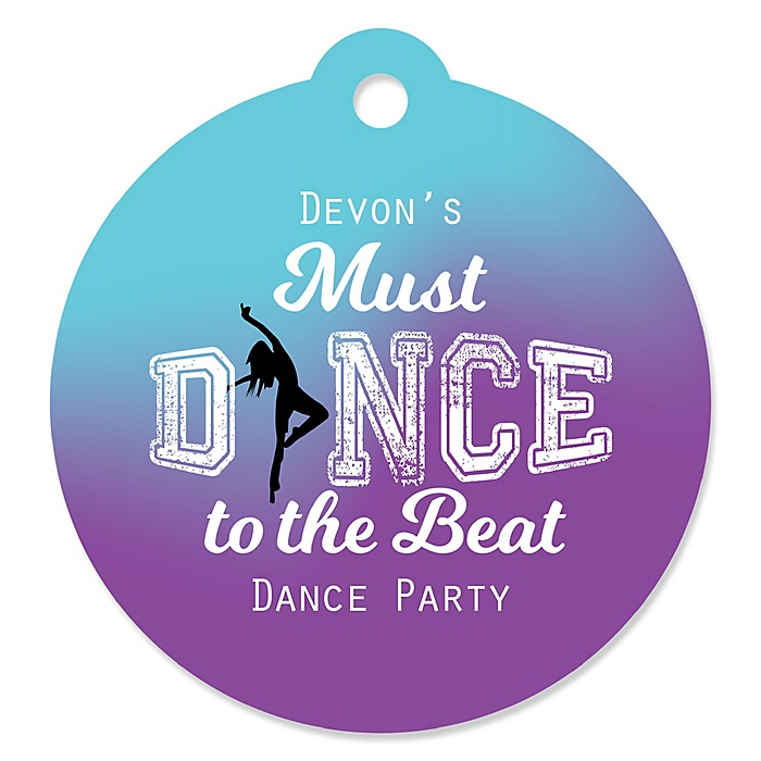Must Dance to the Beat - Dance - Personalized Birthday Party or Dance Party Favor Gift Tags - 20 ct