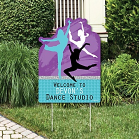 Must Dance to the Beat - Dance - Party Decorations - Birthday Party or Dance Party Personalized Welcome Yard Sign