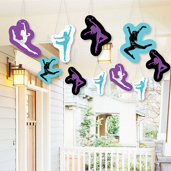 Hanging Must Dance to the Beat - Dance - Outdoor Birthday Party or Dance Party Hanging Porch & Tree Yard Decorations - 10 Pieces