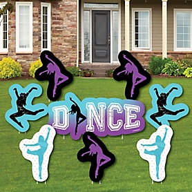 Must Dance to the Beat - Dance - Yard Sign & Outdoor Lawn Decorations - Birthday Party or Dance Party Yard Signs - Set of 8