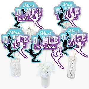Must Dance to the Beat - Dance - Birthday Party or Dance Party Centerpiece Sticks - Table Toppers - Set of 15