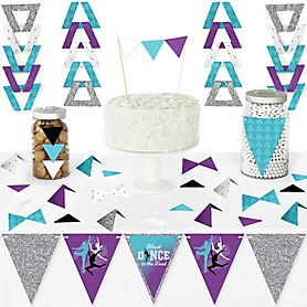 Must Dance to the Beat - Dance - DIY Pennant Banner Decorations - Birthday Party or Dance Party Triangle Kit - 99 Pieces