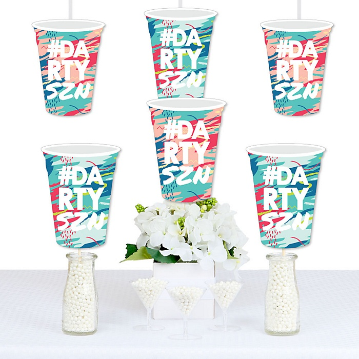 Darty SZN - Beer Mug Decorations DIY Day Drinking Party Season Party Essentials - Set of 20