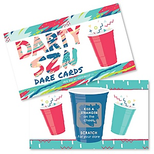 Darty SZN - Day Drinking Party Season Party Game Scratch Off Dare Cards - 22 Count