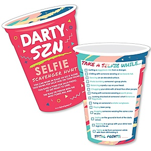 Darty SZN - Selfie Scavenger Hunt - Party Game - Set of 12