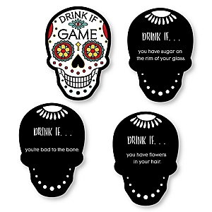 Day Of The Dead - Drink If Halloween Sugar Skull Party Game - Set of 24