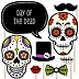 Day Of The Dead - 20 Piece Halloween Sugar Skulls Photo Booth Props Kit