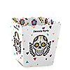 Day Of The Dead - Party Mini Favor Boxes - Personalized Halloween Sugar Skull Party Treat Candy Boxes - Set of 12