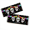 Day Of The Dead - Personalized Candy Bar Wrapper Halloween Sugar Skull Party Favors - Set of 24
