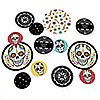 Day Of The Dead - Personalized Halloween Party Giant Circle Confetti - Sugar Skull Party Decorations - Large Confetti 27 Count