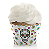 Day Of The Dead - Halloween Sugar Skull Party Decorations - Party Cupcake Wrappers - Set of 12
