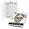 Day Of The Dead - Set of 8 Fill In Halloween Sugar Skull Party Invitations