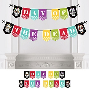 Day Of The Dead - Halloween Sugar Skull Bunting Banner - Party Decorations - Day of The Dead