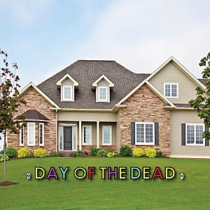 Day Of The Dead - Yard Sign Outdoor Lawn Decorations - Halloween Sugar Skull Party Yard Signs - Day Of The Dead