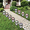 Day Of The Dead - Sugar Skull Skeleton Lawn Decorations - Outdoor Halloween Yard Art Decorations - 10 Piece