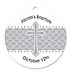 Delicate Blessings Cross - Round Personalized Baptism Tags - 20 ct