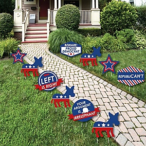 Democrat Election - Donkey Lawn Decorations - Outdoor Democratic Political 2020 Election Party Yard Decorations - 10 Piece