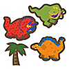 Dinosaur Birthday - Shaped Party Paper Cut-Outs - 24 ct