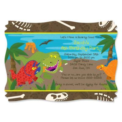 Dinosaur Birthday Personalized Birthday Party Invitations