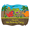 Dinosaur Birthday - Personalized Birthday Party Squiggle Stickers - 16 ct