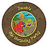 Dinosaur Birthday - Personalized Birthday Party Sticker Labels - 24 ct