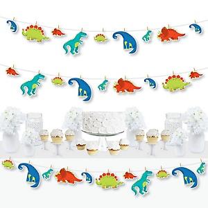 Roar Dinosaur - Dino Mite Trex Baby Shower or Birthday Party DIY Decorations - Clothespin Garland Banner - 44 Pieces