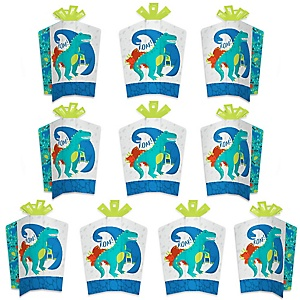 Roar Dinosaur - Table Decorations - Dino Mite Trex Baby Shower or Birthday Party Fold and Flare Centerpieces - 10 Count