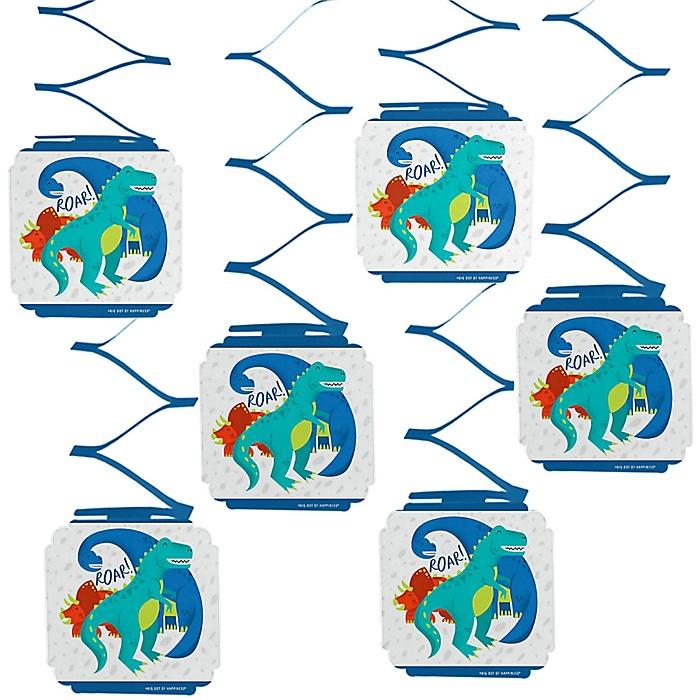 Roar Dinosaur - Dino Mite T-Rex Party Hanging Decorations - 6 ct