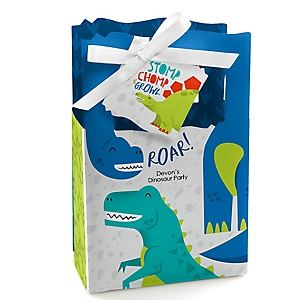Roar Dinosaur - Personalized Dino Mite T-Rex Party Favor Boxes - Set of 12