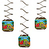 Dinosaur Birthday - Birthday Party Hanging Decorations - 6 ct