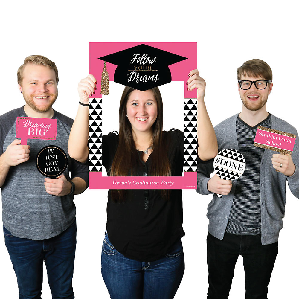 Dream Big - Personalized Graduation Party Selfie Photo Booth Picture ...