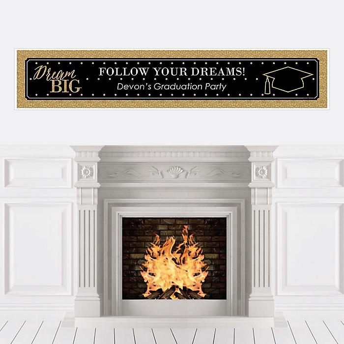 Dream Big - Personalized Graduation Banner