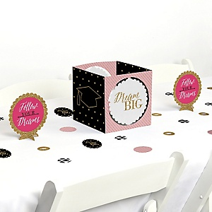 Dream Big - Graduation Party Centerpiece & Table Decoration Kit