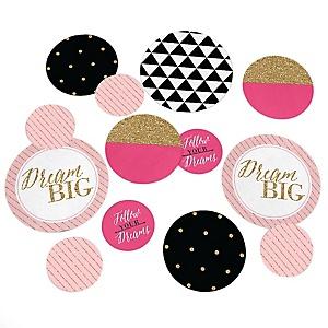Dream Big – Graduation Party Giant Circle Confetti – Graduation Party Decorations – Large Confetti 27 Count