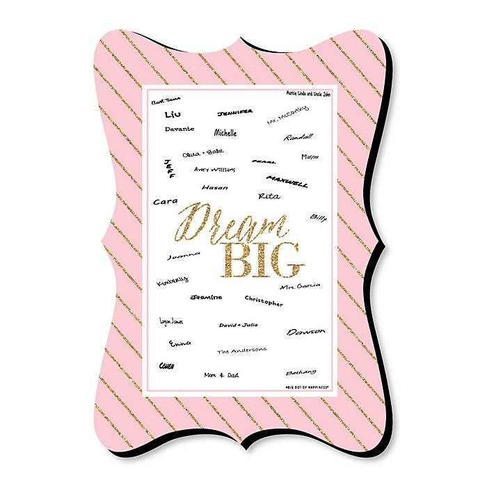 Dream Big - Unique Alternative Guest Book - Graduation Party Signature Mat