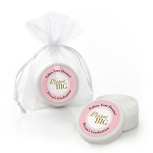 Dream Big - Personalized Graduation Lip Balm Favors - Set of 12