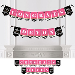 Dream Big - Personalized Graduation Party Bunting Banner & Decorations