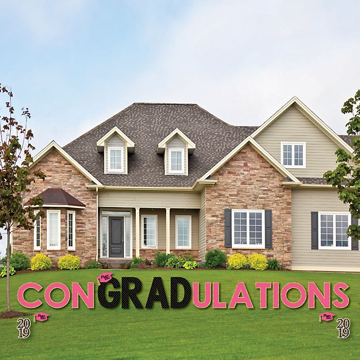 conGRADulations - Dream Big - Yard Sign Outdoor Lawn Decorations - 2019 Graduation Party Yard Signs