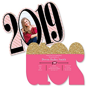 Dream Big - Personalized 2019 Photo Graduation Announcement - Set of 12