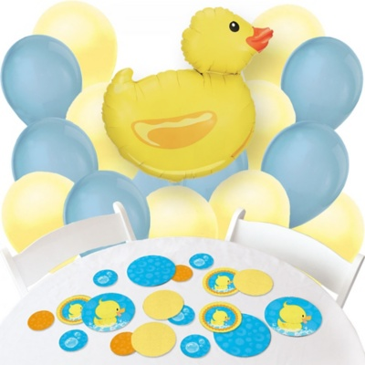 Ducky Duck - Confetti and Balloon Party Decorations - Combo Kit