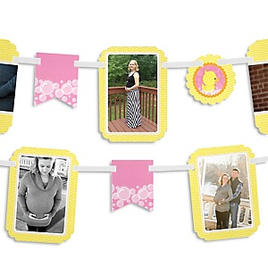 Pink Ducky Duck - Girl Baby Shower Photo Garland Banners