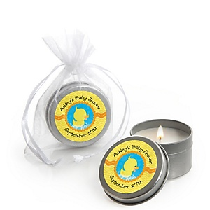 Ducky Duck - Personalized Baby Shower Candle Tin Favors - Set of 12