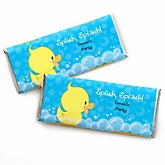 Ducky Duck - Personalized Baby Shower Candy Bar Wrapper Favors