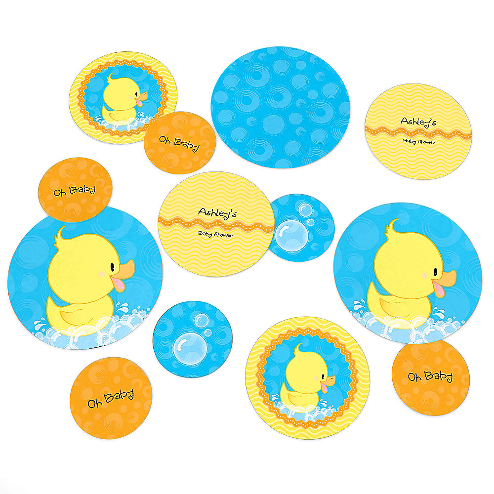 Ducky Duck   Personalized Baby Shower Table Confetti   27 Ct