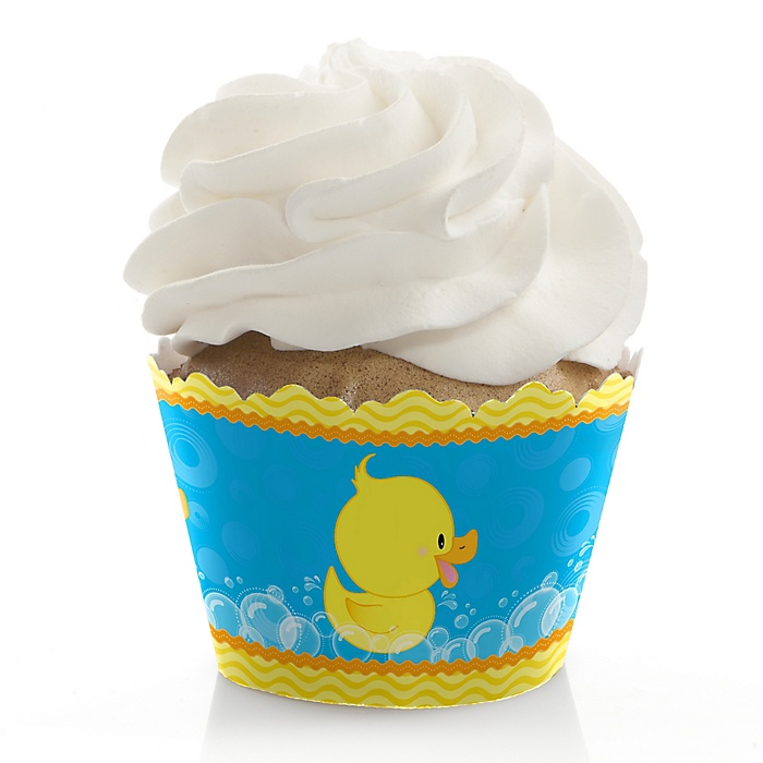 Ducky Duck - Baby Shower Decorations - Party Cupcake Wrappers - Set of 12
