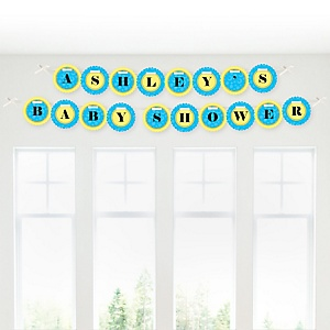 Ducky Duck - Personalized Baby Shower Garland Letter Banners